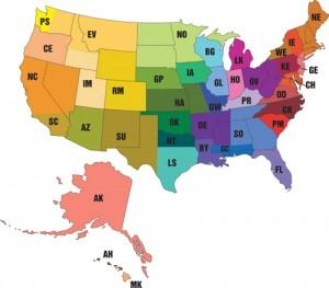 USAV_Regional-map